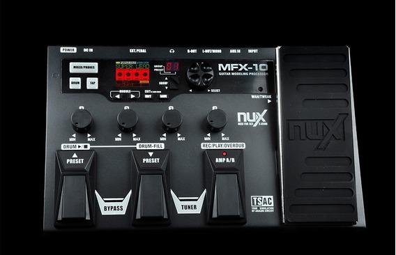 Pedaleira Para Guitarra Nux - Mfx-10