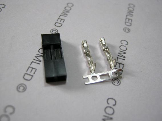 10x Conector 2 Pinos Fêmea Placa Circuito Maker Hdd Led