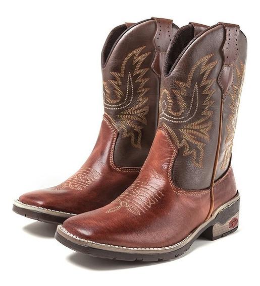 Bota Texana Masculina Cano Longo Couro Legítimo