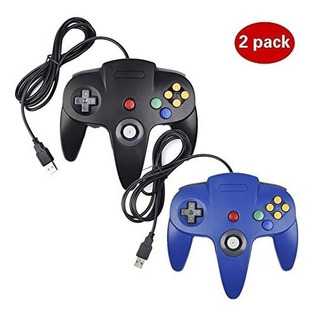 2 Paquete Controlador Usb Para Clásico De Nintendo 64, Contr