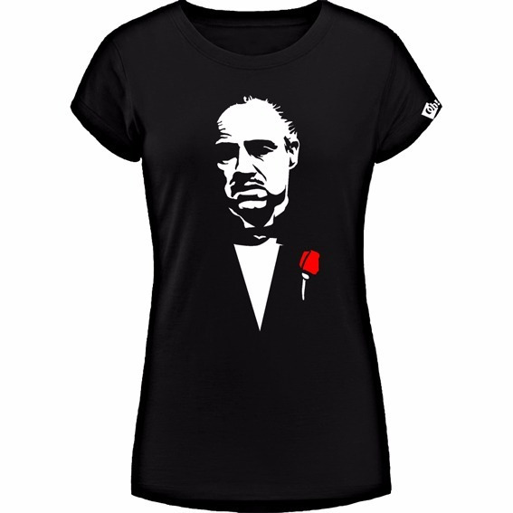 El Padrino Brando Corleone Remera De Dama, Estampada