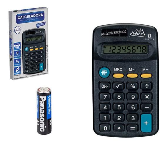 Calculadora Mini Com 08 Dígitos Art Office - Pilha Grátis