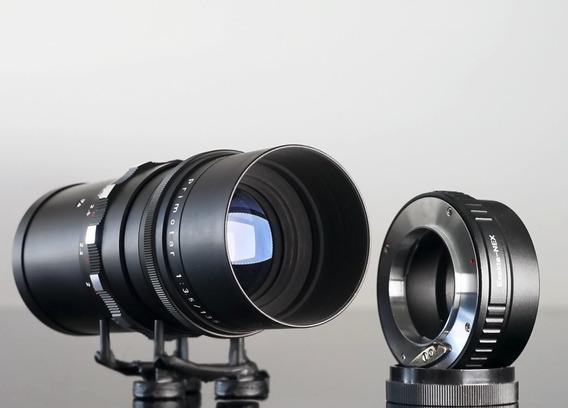 Lente Meyer Primotar 135mm 15lamin Bokeh+adapt.sony E-mount
