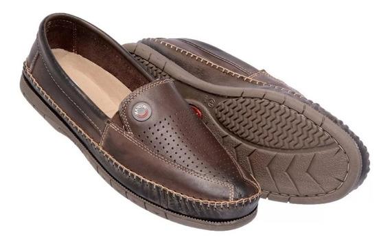 Sapato Masculino Casual Sapatilha Tradicional Em Couro