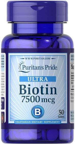 Biotin Biotina Vitamina 7500 Mcg Para El Cabelllo