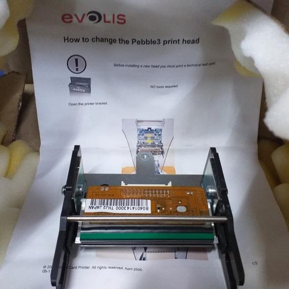 2 Cabeças Térmica De Impressora De Cartão Evolis Peble 3