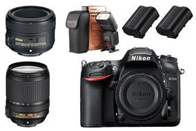 Nikon D7200 Kit + 50mm 1.8g + 2 Baterias + Flash Externo