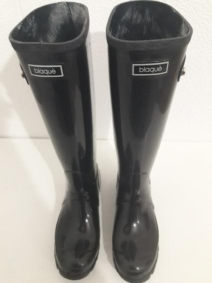 Botas De Lluvia Blaqué Caña Alta Talle 38 Color Negro