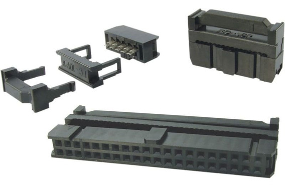 200x Conector Idc Femea Latch 14 Vias + Latch 20 Vias