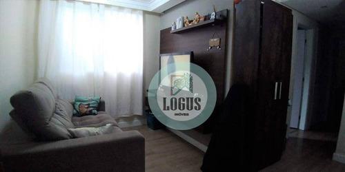 Imagem 1 de 18 de Apartamento Bem Distribuído De 49m² Composto Por 2 Dormitórios, À Venda Por R$ 255.000,00 - Vila Homero Thon - Santo André/sp - Ap1742