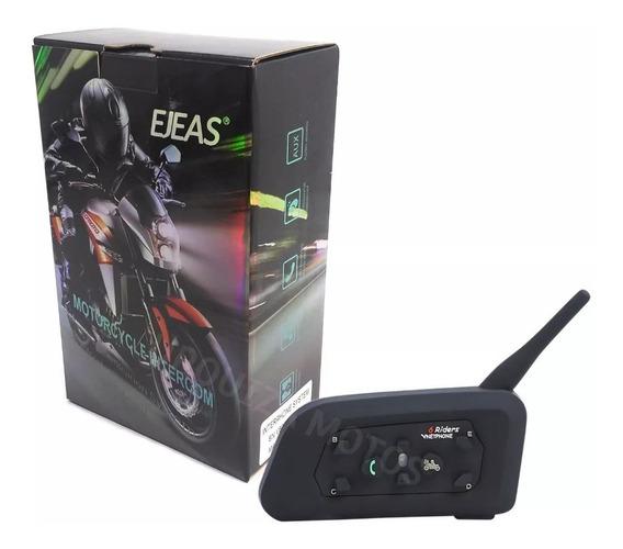 Intercomunicador Moto Bluetooth Casco V6 1200 Mts Ejeas X 1