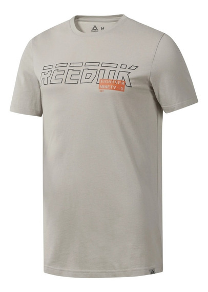 Reebok Remera M/c Lifestyle Hombre Gs Foundation Beige
