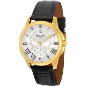 Relógio Seculus Masculino 48062gpstdc1 Couro