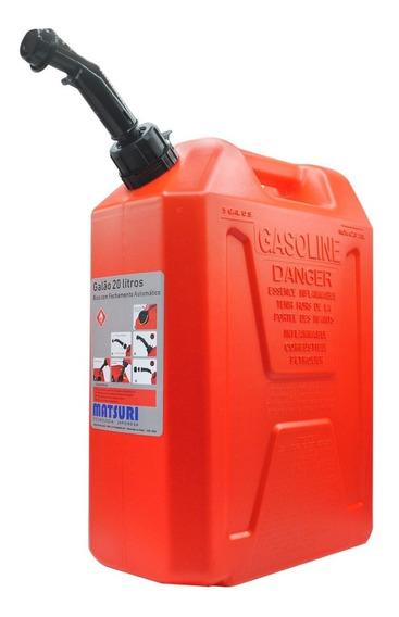 Galão De Combustível Matsuri Vermelho 20 Litros+