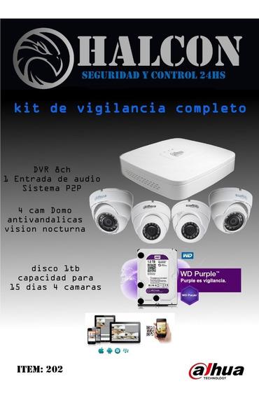 Camaras De Vigilancias,kit Completo - Halcon Seguridad -