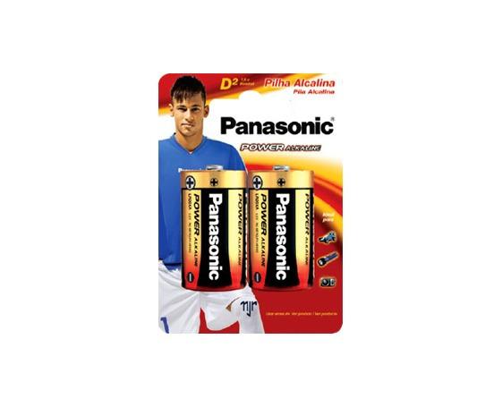 Pilha Grande D Alcalina Panasonic C/ 2 Pilhas