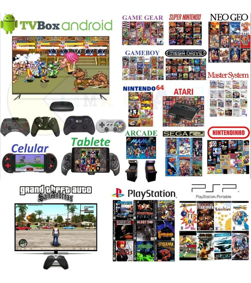 Jogos Para Tv Box. 60 Gb De Jogos. Envio Imediato