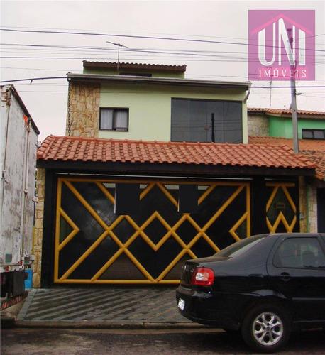Sobrado  Residencial À Venda, Jardim Rina, Santo André. - So0199