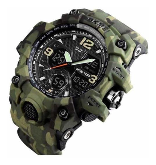 Relógio Masculino Skmei 1155 Verde Camuflado
