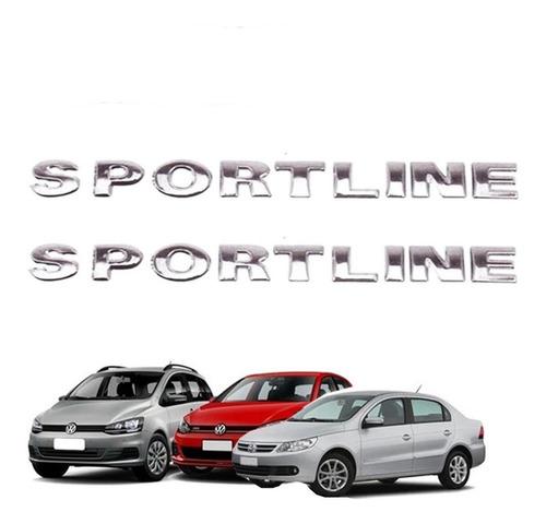 Imagem 1 de 5 de 2 Emblemas Sportline Cromado Gol Golf Parati Saveiro