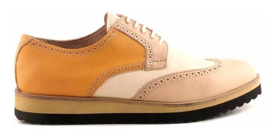 Zapato Abotinado Mujer Cuero Briganti Multicolor - Mccha2973