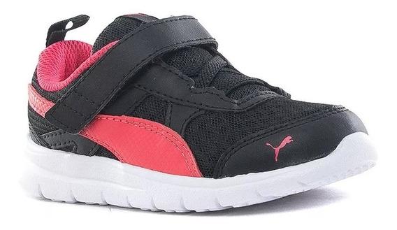 Zapatillas Puma Flex Essential V Infantil Kids Con Abrojo