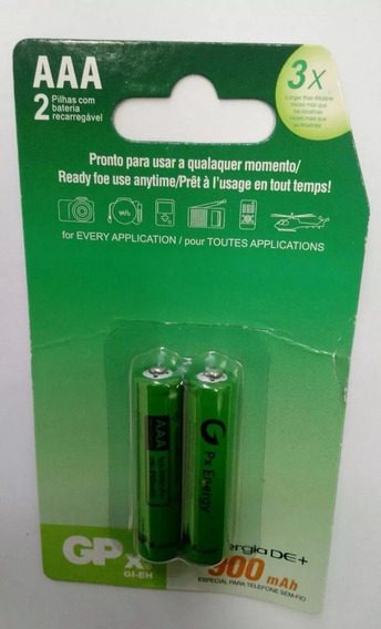 Pilhas Recarregavel Gpx Palito 900mah 2 Pack