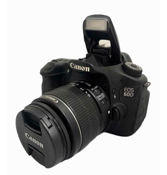 Canon 60d C Lente 1855 Mm Seminova Impecável 57,450 Cliques