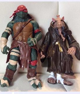 2 Figuras Tortugas Ninja Splinter, Y Leonardo