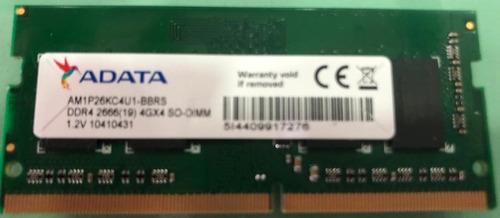Memoria Adata 4 Gb Ddr4 Pc4 2666 Am1p26kc4u1-bacs Notebook