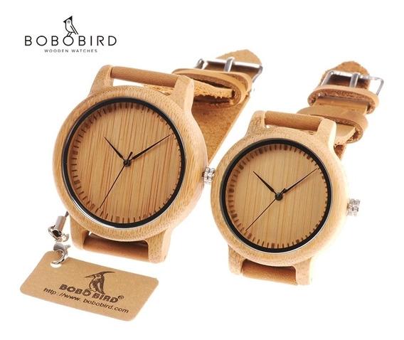 Reloj De Madera De Bambú/ Bobo Bird/ Último De Mujer