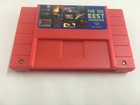 Cartucho Super Nintendo Best 100 Jogos Em 1 Salvando Mario