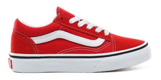 Tenis Vans Old Skool Racing Red Infantil