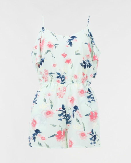 Jumpsuit Casual, Fiesta, Sexy, Antro, Playa, Floral.