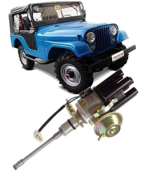 Distribuidor Ignição Eletrônica Jeep Wyllis Rural F75 6cc