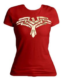 Xperma Playera Dama Wonder Woman Escudo 2