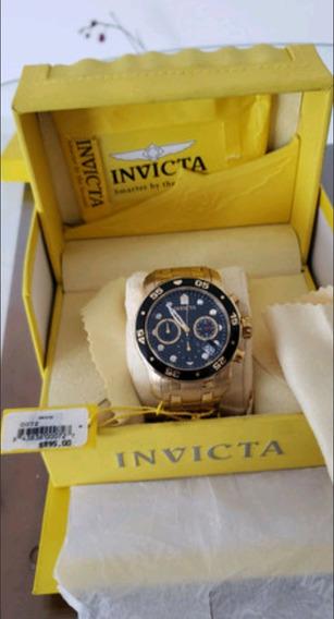 Relógio Invicta Pro Diver 48mm Banhado A Ouro 18k