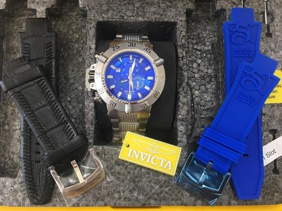 Relógio Masculino Invicta 6684 C/ Maleta Blindada Pulseiras