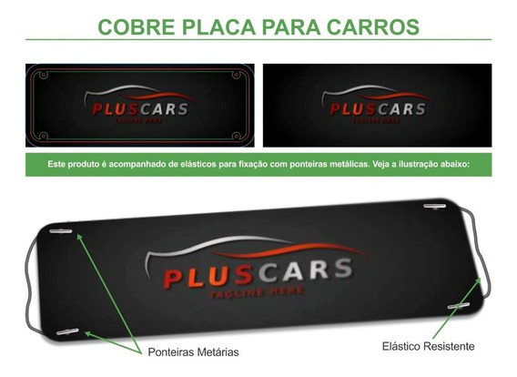 Cobre Placa Personalizado Agência De Veículos Kit 10 Pç Pvc