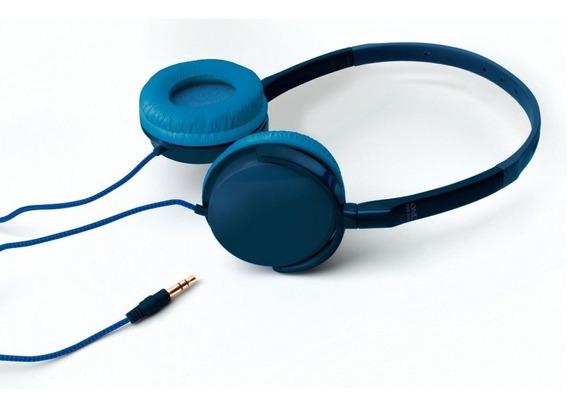 Fone Ouvido Headphone Almofada Acolchoada One For All Azul