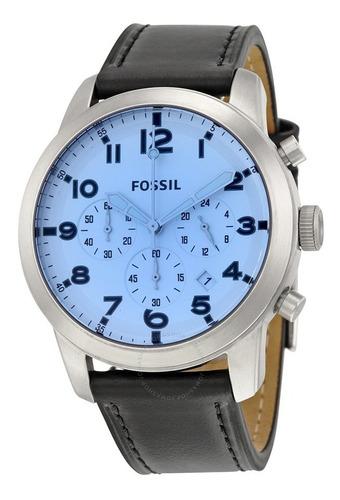 Reloj Fossil Fs5162 Cronografo Cuero Original