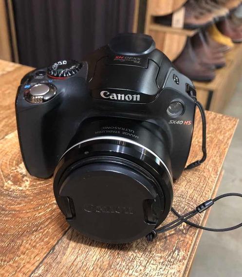 Câmera Digital Semi Profissional Canon Powershot Sx40hs Usad