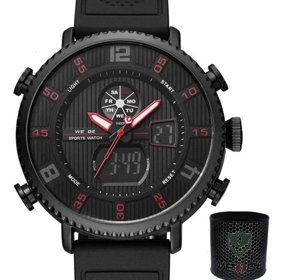 Relógio Masculino Pulseira De Silicone Esportivo Original Nf