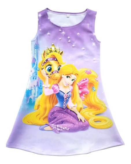 Vestido Para Niña Princesa Rapunzel - Ig