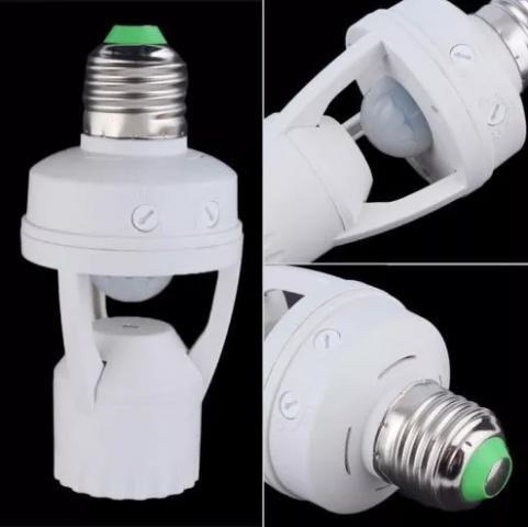 Sensor Presença Com Fotocélula Lâmpada Timer Soquete E27 60w