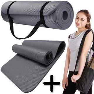 Yoga Mat Colchoneta Pilates Neoprene 10mm Fitness + Sujetado