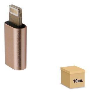 Pacote 10 Adaptador Micro Usb V8 Para iPhone
