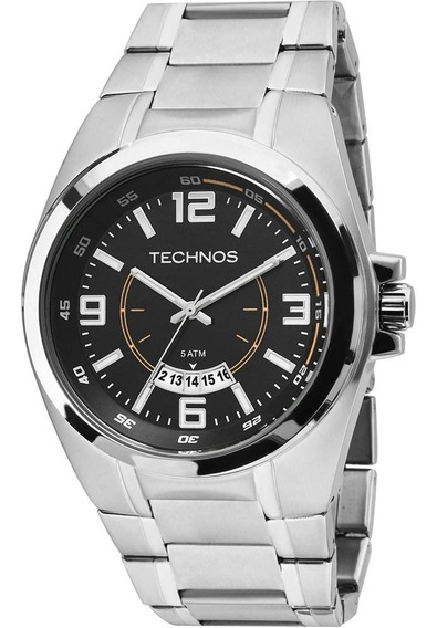 Relogio Technos Casual 2115ksy/1l Aço 50m Data (invicta,arma
