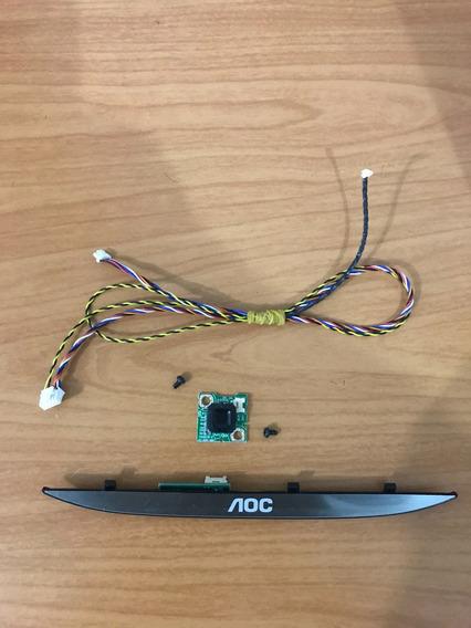 Placa Receptor Controle + Botão Power Cabos Tv Aoc Le321352