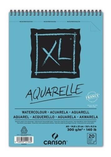 Imagem 1 de 2 de 3x Bloco Papel Canson Xl A5 300g 20fl Aquarela Watercoulor